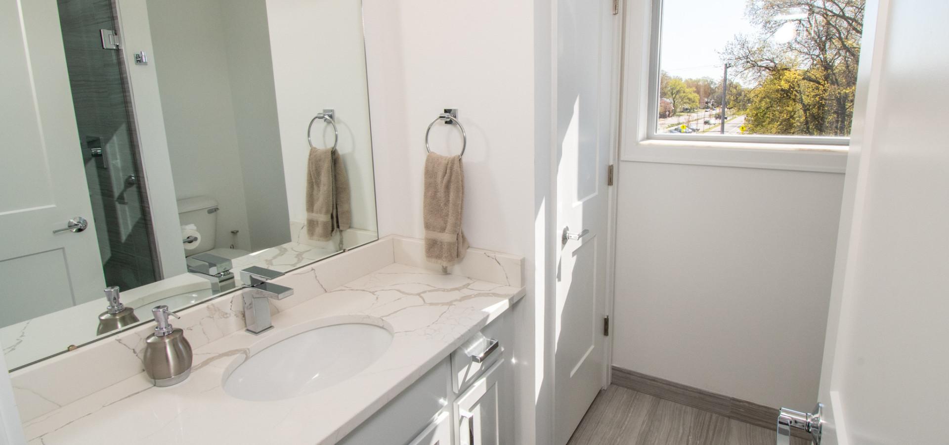 Spacious All Tile Bathrooms